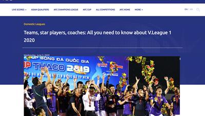 AFC thán phục trước sự trở lại của V-League 2020