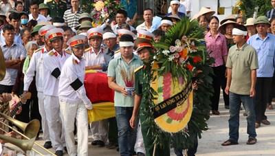 Hà Nam: Đón hài cốt liệt sỹ trở về sau 48 năm hy sinh