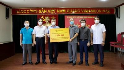 Hỗ trợ 10 tấn gạo cho người dân gặp khó khăn vì dịch Covid-19