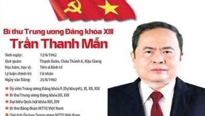 Ông Trần Thanh Mẫn được bầu vào Bộ Chính trị khóa XIII