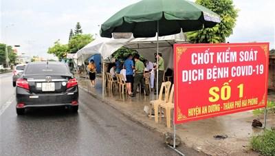 Người từ thị trấn Đông Anh (Hà Nội) đến Hải Phòng không bị cách ly tập trung