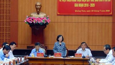 Trưởng ban Dân vận Trung ương làm việc tại Quảng Nam