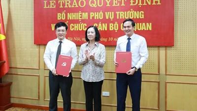 Ban Tổ chức Trung ương bổ nhiệm 2 Vụ phó thông qua thi tuyển