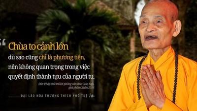 Đại lão hòa thượng Thích Phổ Tuệ: Khiêm nhường và giản dị