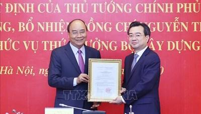 Ông Nguyễn Thanh Nghị chính thức giữ chức Thứ trưởng Bộ Xây dựng
