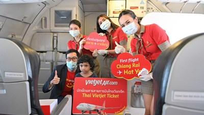 Vietjet khai thác 14 đường bay nội địa Thái Lan