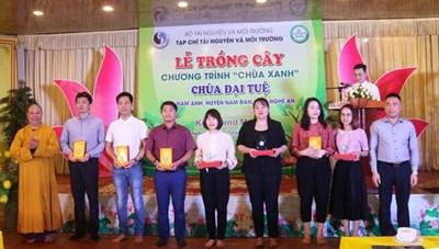 Hơn 1.000 cây xanh trồng mới tại chùa Đại Tuệ