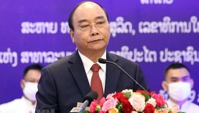 [Photo] Những hoạt động của Chủ tịch nước Nguyễn Xuân Phúc tại Lào