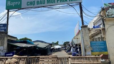 [ẢNH] Dừng hoạt động, phong tỏa chợ đầu mối phía Nam Hà Nội