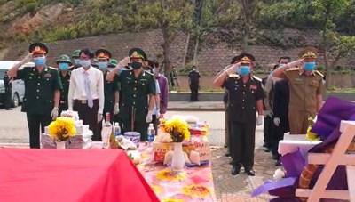 Lễ đón 16 hài cốt liệt sỹ hy sinh tại Lào trở về quê hương