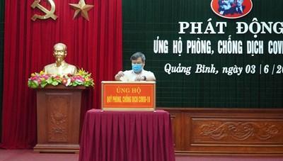 Quảng Bình: Tiếp nhận 11 tỷ đồng ủng hộ phòng, chống dịch Covid-19