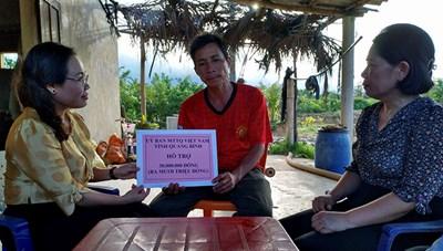Quảng Bình: Hỗ trợ 70 triệu đồng cho 2 gia đình bị cháy nhà