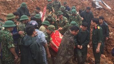 [Cập nhật]Tìm thấy 14 thi thể trong vụ sạt lở núi tại Đoàn Kinh tế 337