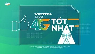 Mạng 4G của Viettel có tốc độ tốt nhất Việt Nam