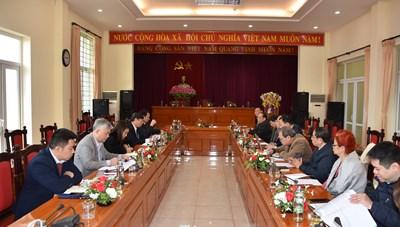 Đoàn khảo sát Hội đồng tư vấn Đối ngoại và Kiều bào làm việc tại Vĩnh Phúc