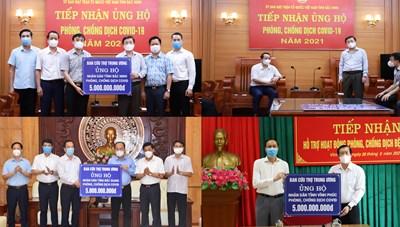 Mặt trận Trung ương hỗ trợ 3 tỉnh Bắc Giang, Bắc Ninh, Vĩnh Phúc 15 tỷ đồng chống dịch