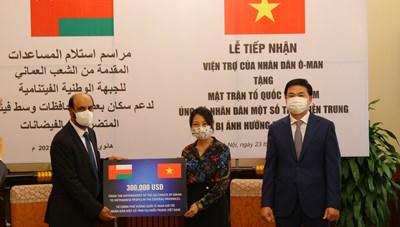 Thêm 300.000 USD hỗ trợ nhân dân miền Trung khắc phục hậu quả mưa lũ
