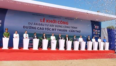 Khởi công cao tốc Mỹ Thuận - Cần Thơ