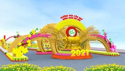 Cần Thơ: Hơn 40 ngàn giỏ hoa, cây cảnh trang trí tại đường hoa nghệ thuật