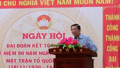 Ông Phan Đình Trạc tham dự ngày Hội Đại đoàn kết toàn dân tộc ở Cần Thơ