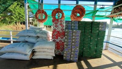 An Giang: Thu giữ 124 thùng bia và 500 kg đường cát nhập lậu