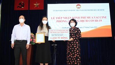 TP.Hồ Chí Minh: Tiếp nhận gần 5,3 tỷ đồng ủng hộ phòng, chống dịch Covid-19