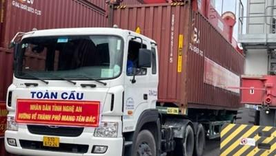 TP.Hồ Chí Minh: Tiếp nhận gần 300 tấn lương thực, thực phẩm ủng hộ từ Nghệ An
