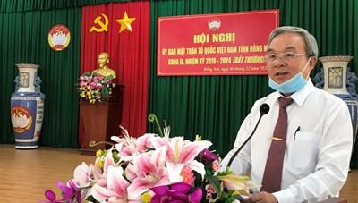 Ông Cao Văn Quang được hiệp thương làm Chủ tịch MTTQ tỉnh Đồng Nai