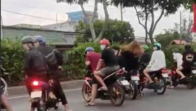 Bắt khẩn cấp hàng chục thanh thiếu niên đua xe trái phép trên quốc lộ 22