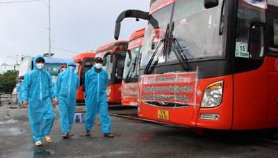 Lần đầu tiên đưa người dân từ Bà Rịa Vũng Tàu về Phú Yên tránh dịch