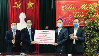 Tập đoàn AIC GROUP tài trợ Thanh Hoá xét nghiệm virus SARS-CoV-2