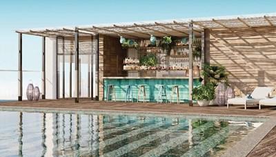 Những hình ảnh đầu tiên của bể bơi vô cực trên tầng 27 khách sạn Apec Mandala Wyndham Mũi Né