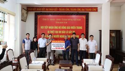 Đoàn công tác tỉnh Đắk Lắk đi hỗ trợ các tỉnh mưa lũ