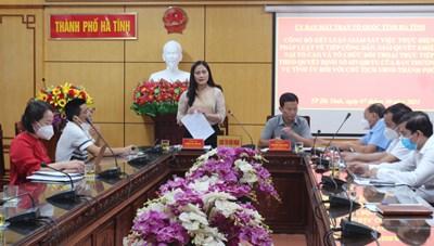 Hà Tĩnh: Khi Mặt trận giám sát Chủ tịch UBND thành phố