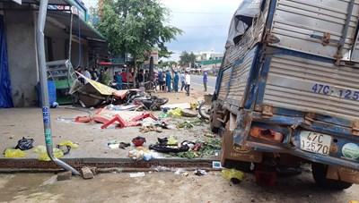 Bắt tạm giam tài xế xe tải gây tai nạn liên hoàn khiến 10 người thương vong