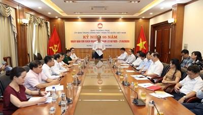 Trung ương MTTQ Việt Nam chúc mừng ngày Báo chí cách mạng Việt Nam