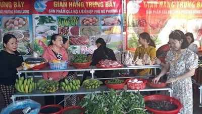Quảng Trị: 11 gian hàng tham gia 'Phiên chợ nông sản an toàn năm 2020'