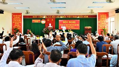 Ninh Thuận: Hội nghị Mặt trận  lần thứ 5, Triển khai nhiệm vụ năm 2021