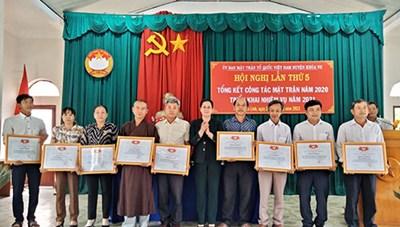 Mặt trận huyện Tánh Linh triển khai nhiệm vụ năm 2021