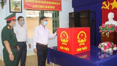 Kiểm tra công tác chuẩn bị bầu cử tại TP Nha Trang