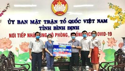 Công ty CP Becamex Bình Định ủng hộ 500 triệu phòng chống dịch Covid-19