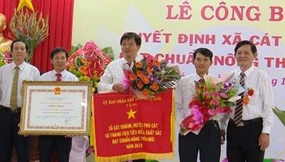 Bình Định: Xã Cát Khánh đạt chuẩn nông thôn mới