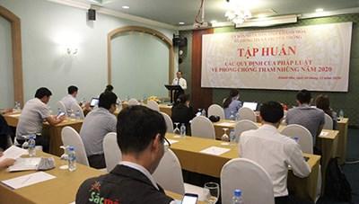 Khánh Hòa: Tập huấn quy định về phòng, chống tham nhũng