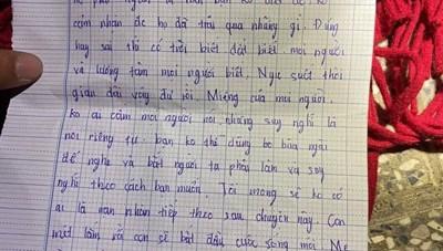 Một cô gái để lại thư tuyệt mệnh rồi nhảy cầu tự tử