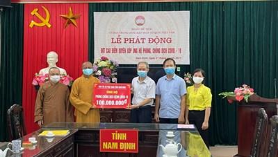 Giáo hội Phật giáo tỉnh Nam Định ủng hộ phòng, chống dịch Covid-19
