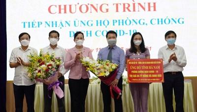 Cán bộ, tướng lĩnh, doanh nhân quê Hà Nam ủng hộ quê nhà hơn 4 tỷ đồng phòng, chống dịch
