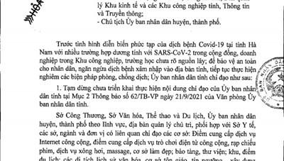 'Hàng xóm' xuất hiện nhiều ca bệnh, Thái Bình 'phanh gấp' việc mở lại một số dịch vụ