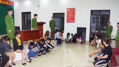 Hà Nam: 39 thanh niên sử dụng ma túy, mua bán dâm trong khách sạn