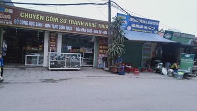 """Huyện Quốc Oai: """"Biến"""" đất nhà văn hóa thành ki ốt kinh doanh và bãi trông giữ xe"""