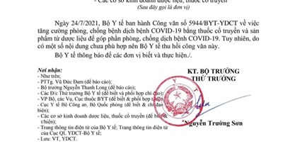 Vì sao Bộ Y tế thu hồi văn bản về sản phẩm Đông y hỗ trợ phòng, chống Covid-19?